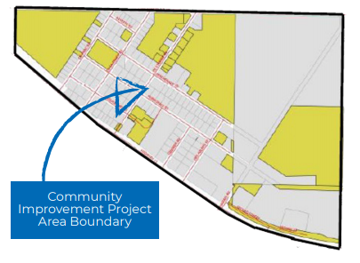 This photo shows the boundary area of the community improvement plan for Val Rita-Harty